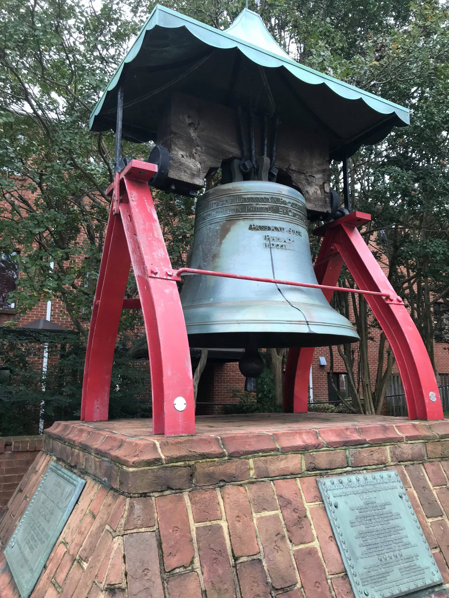 Virginia Liberty Bell replica